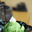 Stock Photo: Green temilk shake japanese style