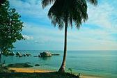 Beautiful panorama of kelayang island belitung indonesia — Stock Photo