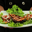 Salmon teriyaki to eat — Stock Photo #28598537