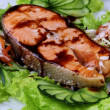 Stock Photo: Salmon teriyaki to eat