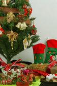 Christmas tree isolated on white background — Stock Photo