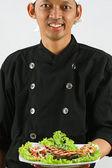 Chef smie — Stock Photo