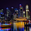 Stock Photo: Landscape of night cityscape