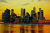 Landscape of night cityscape — Stock Photo