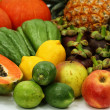 Stock Photo: Healthy fruits and vegetables