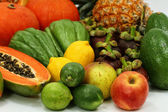 Healthy fruits and vegetables — Stock Photo