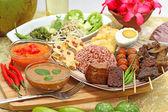 Jedzenie, dania kuchni indonezyjskiej — Zdjęcie stockowe