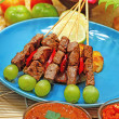 Beef satay — Stock Photo