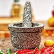 Mortar and pstle — Stock Photo