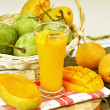 Fruits, mango juices — Stock Photo