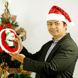 Man celebrating Christmas — ストック写真