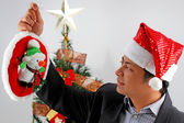 Man celebrating Christmas — Stock Photo