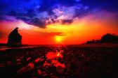 Paysage coucher de soleil — Photo