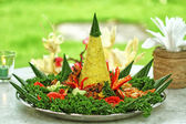 Nasi Tumpeng, Indonesian Cuisine — Stock Photo