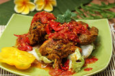 Indonesain food, grilled chicken — Stockfoto
