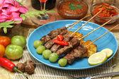 Beef satay — Stock Photo