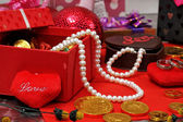 Valentines objects — Stock Photo