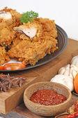 Fried chicken — Stock Photo