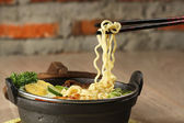 Indonesian noodle soup, soto mie — Stock Photo