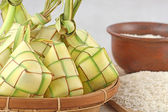 Ketupat lebaran, Indoneian food — Stock Photo