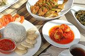Indonesian lunch menu — Stock Photo
