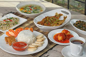 Indonesian lunch menu — Stock Photo