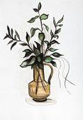 植物在一个花瓶 — 图库照片