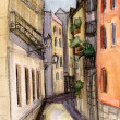Stock Photo: Narrow small street