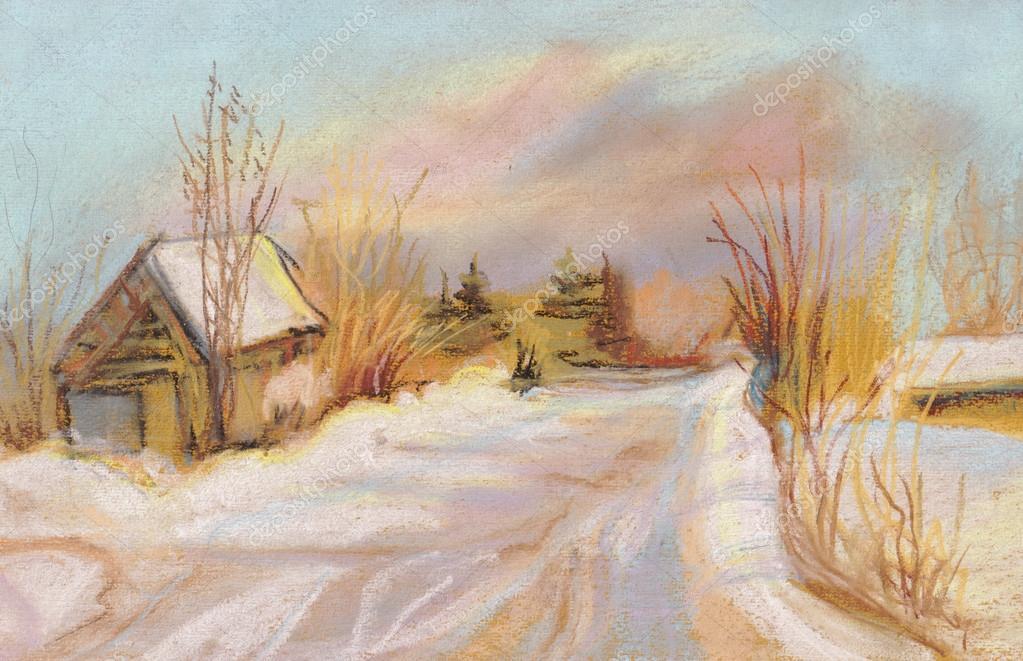 寒冷的冬天一天,太阳和风