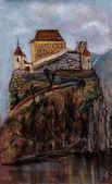 Zamek w czechach — Zdjęcie stockowe