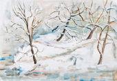 Winter landscape — Foto de Stock