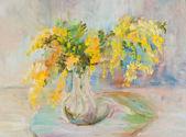 Buquê de mimosa — Foto Stock