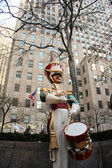 Soldier decoration at Rockefeller center — Stock Photo