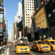 Stock Photo: Yellow cabs on Times Square