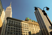 Empire State and Flatiron buildings — Stock Photo