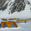 Tents at the Antarctic Station — 图库照片