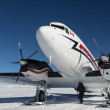 Stock Photo: Canadian Airplane at the South pole