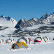 Tents at the Antarctic Station — Stockfoto