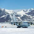 Airplane IL - 76 in Antarctica — Stock Photo #17985353