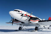 Canadian Airplane at the Southpole — Stok fotoğraf