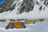 Tents at the Antarctic Station — Stock Photo