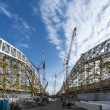 Construction of Olympic Venue in the Sochi Olympic Park, Russia — Stock Photo