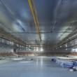 Interiors of the newly constructed curling arena in the Sochi Olympic Park, Russia — Stock Photo