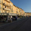 Tourist street, Saint-Tropez, France - Stock Photo