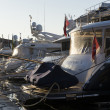 Luxury yachts in port, France — Stock Photo