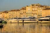 Port landscape, Saint-Tropez, France — Stock Photo