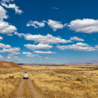 Stockfoto: Car on road, Namibia, Africa