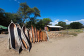 Traditional Namibian Canoes — Stock Photo