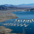 Stock Photo: Lake mead panoramon Colorado River.