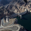 Stock Photo: Aerial view of Hoover Dam and Colorado River Bridge
